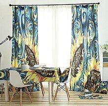 GFYWZ gardinen Vorhänge Samt Translucent Falte