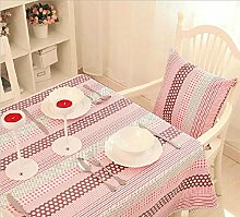 GFYWZ Haushalt-Baumwolle quadratische Tischdecke . 100*160cm