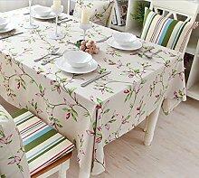 GFYWZ Haushalt-Baumwolle Stoff Tischdecke , 130*180cm