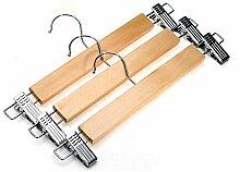 GFYWZ Hosen Kleiderbügel hochwertigem Holz Stretching Robuste Anti-Rutsch-Slacks Aufhänger (Packung mit 30)