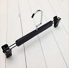 GFYWZ Hosen Kleiderbügel schwarz Scrubs Plastikhose Rack (Packung mit 10) , 31cm