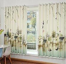 GFYWZ Kinder Leinenvorhänge Velvet 3D Cartoon Giraffe Digitaldruck Stoffe Blackout Lärm reduzierte Falte Fenster Vorhänge zu den Deckenfenstern Schiebegardine Wohnzimmer Schlafzimmer Stock (2 Platten) , 2 , C
