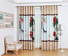 GFYWZ Kinder Leinenvorhänge Velvet 3D Cartoon Giraffe Digitaldruck Stoffe Blackout Lärm reduzierte Falte Fenster Vorhänge zu den Deckenfenstern Schiebegardine Wohnzimmer Schlafzimmer Stock (2 Platten) , 3 , C