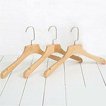 GFYWZ Kleiderbügel aus Massivholz Frau Retro Non Slip Hanger (Packung mit 10) , 1 , 39*23.5*3cm