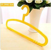 GFYWZ Kleiderbügel Kunststoff stabile rutschfeste langlebig Magic Kleiderbügel Überstreichung Kleidung Kleiderbügel (Packung mit 10) , yellow , 21.5*40.5