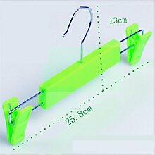 GFYWZ Kunststoff-Hose Färbte Durable overstriking Slacks Hosen Rack (Packung mit 20) , green
