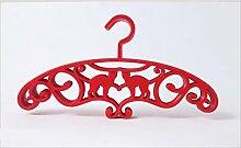 GFYWZ Kunststoff Multifunktions-Hänge-Position Anti-Rutsch Magic Hangers Bekleidungsgeschäft Kleiderbügel (Packung mit 20 Stück) , red , 37.5cm*20cm