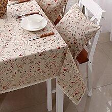 GFYWZ Leinen gedruckt, Baumwolle und Leinen Tabelle Tuch Tischdecke , 140*200cm