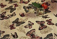 GFYWZ Leinen Tischdecke Schmetterling , 140*140cm