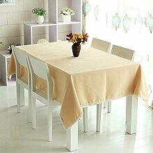 GFYWZ Privaten Haushalte solide, quadratische Tischdecke , 3 , 140*180cm