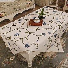 GFYWZ Tischdecke Garten handbestickt Stoff , 60x60cm