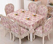 GFYWZ Tischdecke Home Nähen Baumwolle Quadrat runde Spitzen Tischdecke . 3 . 150*200