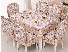 GFYWZ Tischdecke Home Nähen Baumwolle Quadrat runde Spitzen Tischdecke . 2 . 130*180