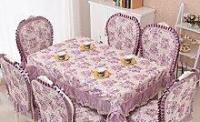 GFYWZ Tischdecke Home Nähen Baumwolle Quadrat runde Spitzen Tischdecke . 1 . 150*200