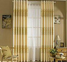 GFYWZ Vorhänge Hochwertige Polyester Gold