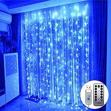 Ggdoo 3x3m 300 LED Eiszapfen Fee-Schnur-Lichter