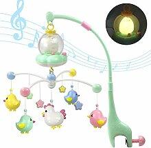 Ggdoo Baby-Musical Krippe Mobile mit Nachtlichtern