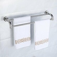 GGHYYO Handtuchhalter an der Wand montierten Badezimmer Accessoires minimalistischen Stil doppelter Handtuchhalter 50cm