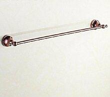 GGHYYO Handtuchhalter an der Wand montierten Single Handtuchstangen Badezimmer Accessoires europäischen Stil 63 * 9cm