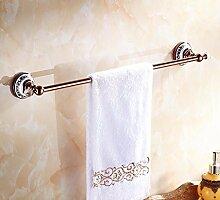 GGHYYO Handtuchhalter kontinentales Retro single Bar Kupfer Badezimmer Accessoires 64 5 cm Rose Gold