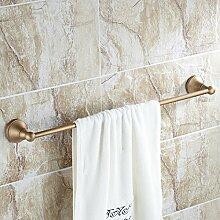 GGHYYO Handtuchhalter Retro single Bar Euro-style accessoires badezimmer an der Wand 35 Cm