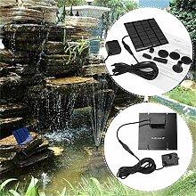 GGkdalio Solar Panel Wasserpumpe Kit Brunnen Pool