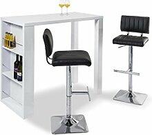 GGM Bar-Set LOUNGE Bartisch inkl. 2 Barhocker