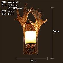 GGRXA Industrielle antik Wandlampen Geweih