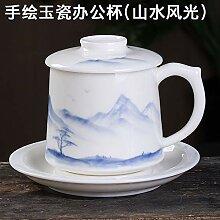 GGsmd Jade Porzellan Handbemalte Keramik-Tasse