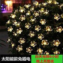 GGSSYY Solar/LED/Blume/Lichterkette/Taschenlampe/Hof/Laterne/Outdoor/Wasserdicht/Baum Lampe, 52 Meter 500 - Blau