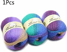 GHBOTTOM Weicher Farbverlauf Wolle Kaschmir