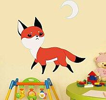 Ghdkhgksdh Süße Fox Wandaufkleber Aufkleber Cute