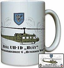 GHFlgRgt 6 Heeresfliegerregiment Heeresflieger Regiment 6 Hungriger Wolf BELL 1D HUEY - Tasse Kaffee Becher #11122