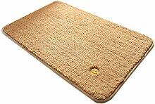 GHGMM Teppich Fußmatten, Einfarbig rutschfest