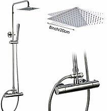 GHKUFH Duschsystem Thermostat-Duscharmatur-Set mit