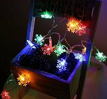 Ghope 40er LED Lichterkette Schneeflocke