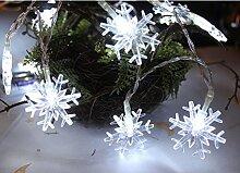 Ghope 50er LED Lichterkette Schneeflocke