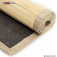 Ghorbani Bambusmatte Bambusteppich Teppich Bambus 180x240 natur