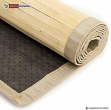Ghorbani Bambusmatte Bambusteppich Teppich Bambus 180x270 natur