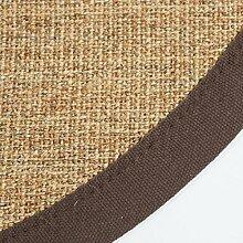 Ghorbani Sisal Teppich Bordürenteppich Teppich Sisalteppich Naturfaser braun 180 cm rund