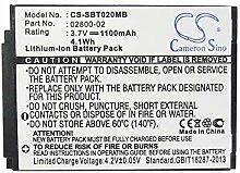 Ghpter 1100mAh / 4.07Wh 3.7V BabyPhone-Batterie