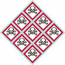 Ghs Piktogramm, Totenkopf, Totenkopf und gekreuzte