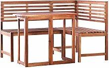 ghuanton Balkon Tisch und Eckbank Set 2 Stück