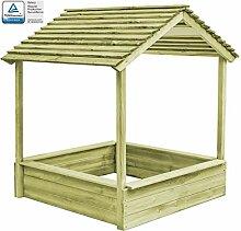 ghuanton Garten-Spielhaus mit Sandkasten