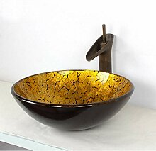 ghyjf Glaswaschbecken Kunstwaschbecken