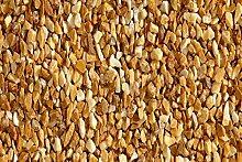 Giallo Siena Gartensplitt Granulat Ziersplitt Marmor gelb- hellbraun 40 - 60 mm 25 kg