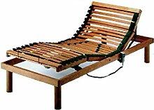 Gianflex Netzwerk Doppelbett aus Holz, mit Latten