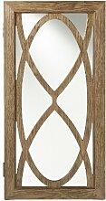 Gianni Schmuckschrank mit Spiegel, Holz, silberfarben