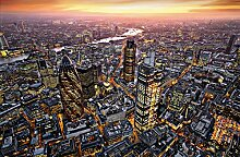 Giant Art® XXL-Poster London Aerial View Photo,
