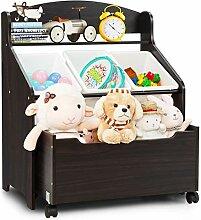 GIANTEX Kinder Spielzeugregal, Spielzeugschrank